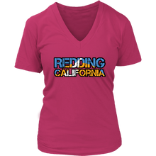 Redding California District Womens V-Neck