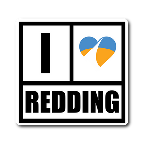 I Heart Redding Sticker 3x3