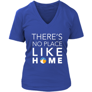 No Place Like Home District Womens V-Neck