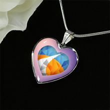 Polygonized Heart Necklace and Bangle