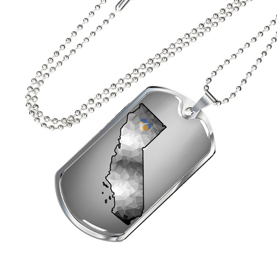 Calif Map Dog Tag