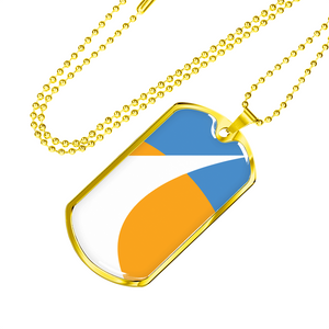 Redding City Flag Dog Tag