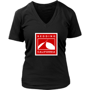 Redding in Red District Womens V-Neck