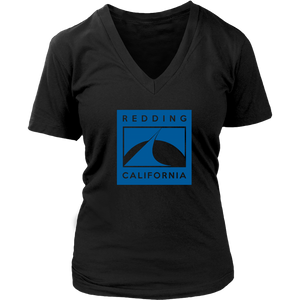 Redding in Blue District Womens V-Neck
