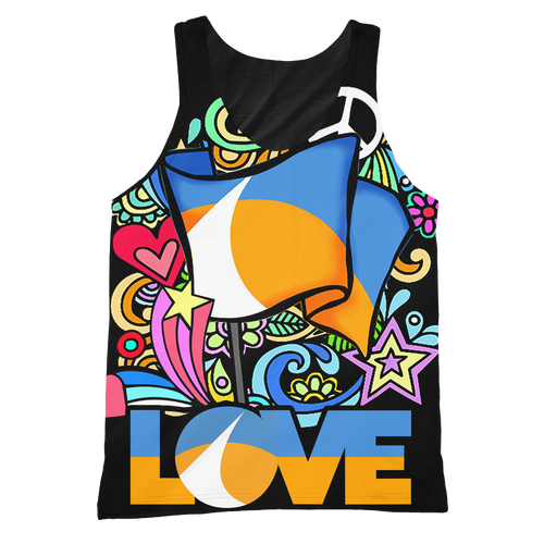 Love Redding Retro All Over Print Tank (black)