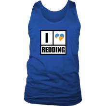 I Heart Redding District Mens Tank