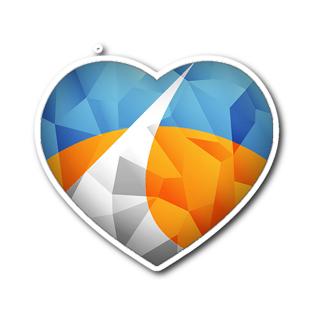 Redding Polygonized Heart Sticker