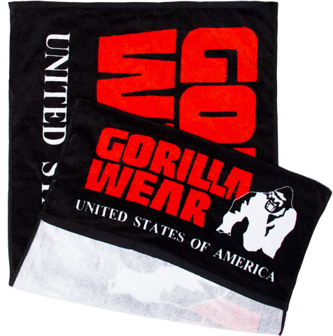 Gorilla Wear Functional Gym Towel - Black/Red - gymstop