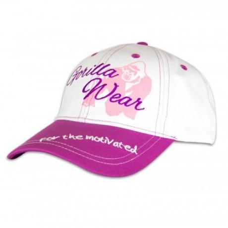 Gorilla Wear Lady Signature Cap - White/Pink - gymstop