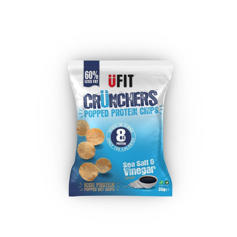 UFIT Crunchers High Protein Crisps 11 x 35g - gymstop