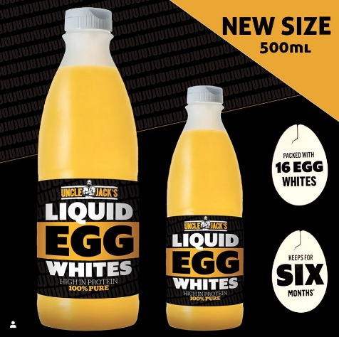 Uncle Jack's Free Range 500ml Liquid Egg White's