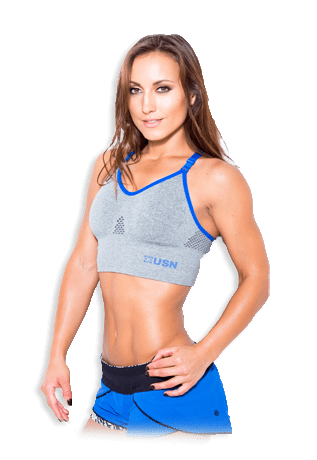 USN Women's Sports Bra - Grey - gymstop