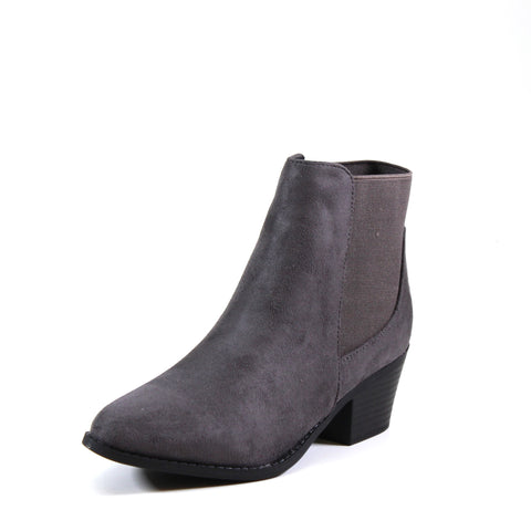 Vegan imi suede upper with double gore. Slip into this stylish slip-on Chelsea bootie in grey.