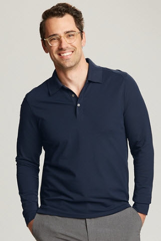 Cutter & Buck Long Sleeve Advantage Polo