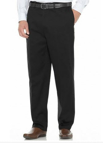Savane Performance Straight-Fit Flat-Front Pant Black