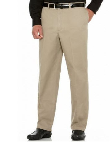 Savane Performance Straight-Fit Flat-Front Pant