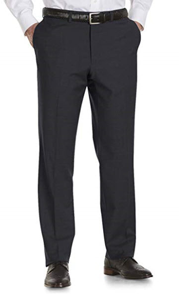 Jack Victor Riviera Traveler Flat-Front Pants Charcoal