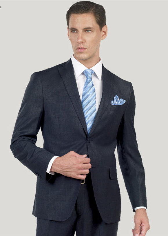 Mantoni 100% Wool Suit Black
