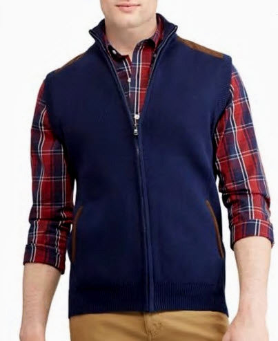 Chaps Full Zip Cotton Vest
