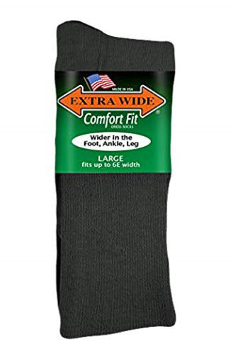 Extra Wide Comfort Fit Dress Socks