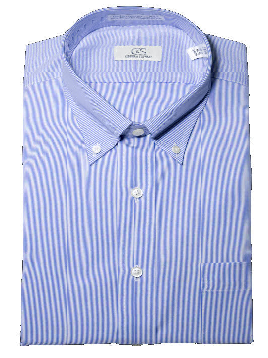 Cooper & Stewart Non-Iron Fine Line Stripe Button Down