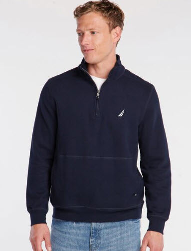 Nautica Quarter Zip Soft Fleece