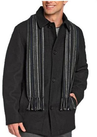 Nautica Wool Walking Car Coat