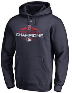Boston Red Sox Majestic 2018 World Series Champions Executive Logo Pullover Hoodie