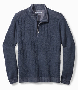 Tommy Bahama Palm Vista Half-Zip Sweater