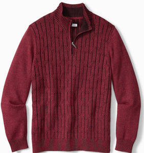 Tommy Bahama Deep Sea Half-Zip Sweater