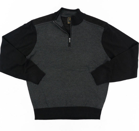 FX Fusion Herringbone Front 1/4 Zip Sweater