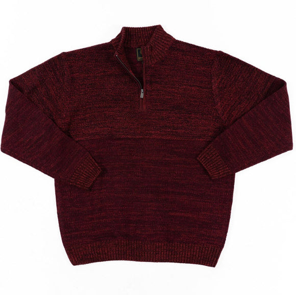 Fusion Textured Heathered 1/4 Zip Sweater