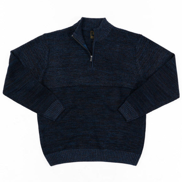 FX Fusion Textured Heathered 1/4 Zip Sweater