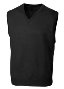 FX Fusion Black V-Neck Sweater Vest