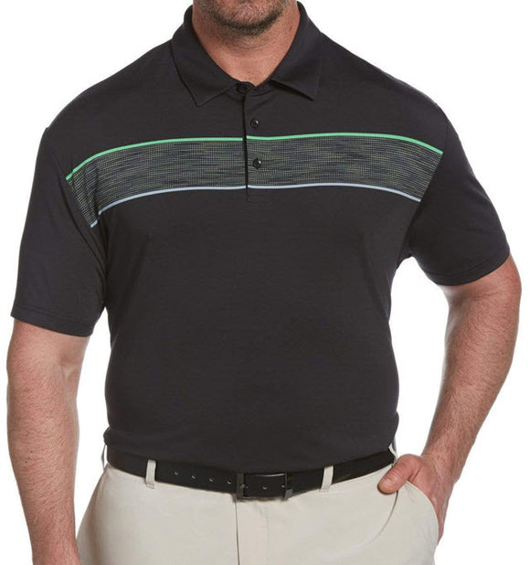 Callaway Space Dyed Chest Stripe Jacquard Polo