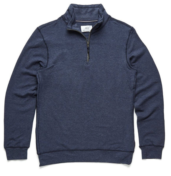 Surf Side Supply Brushback Fleece Zip Mock