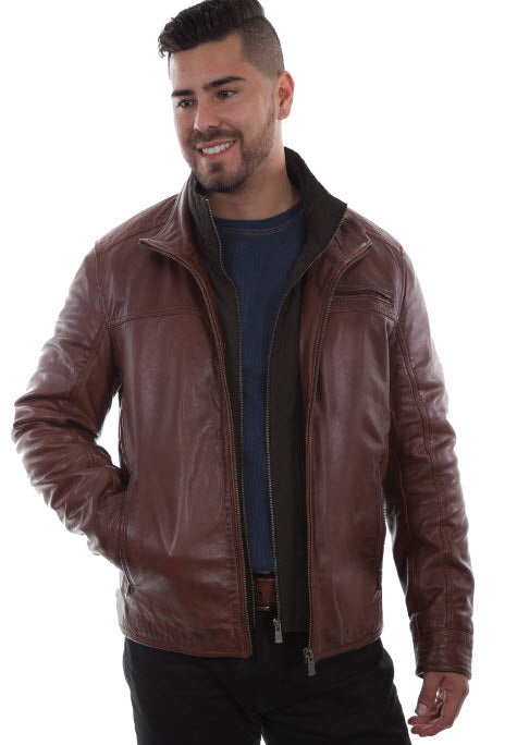 Scully Lambskin Leather Quilted Front