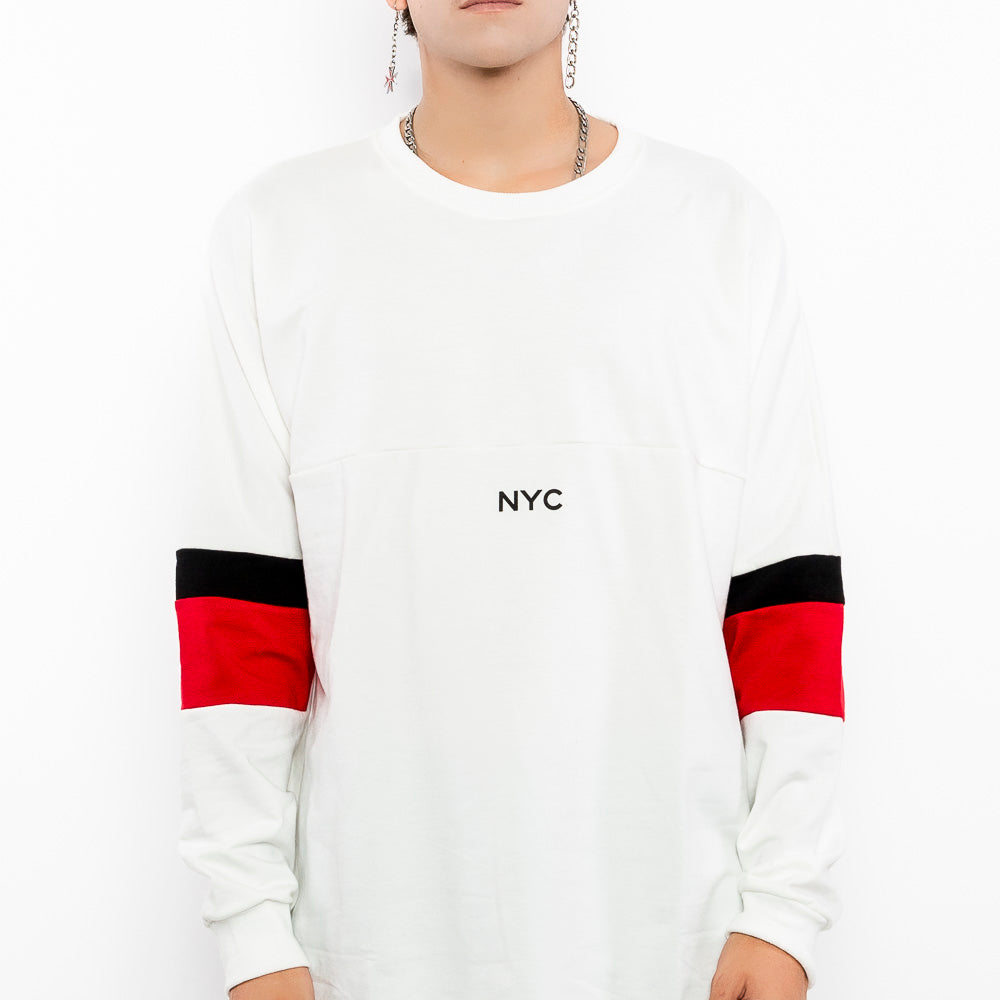 Stimulate NYC Pullover White Sweater-Men