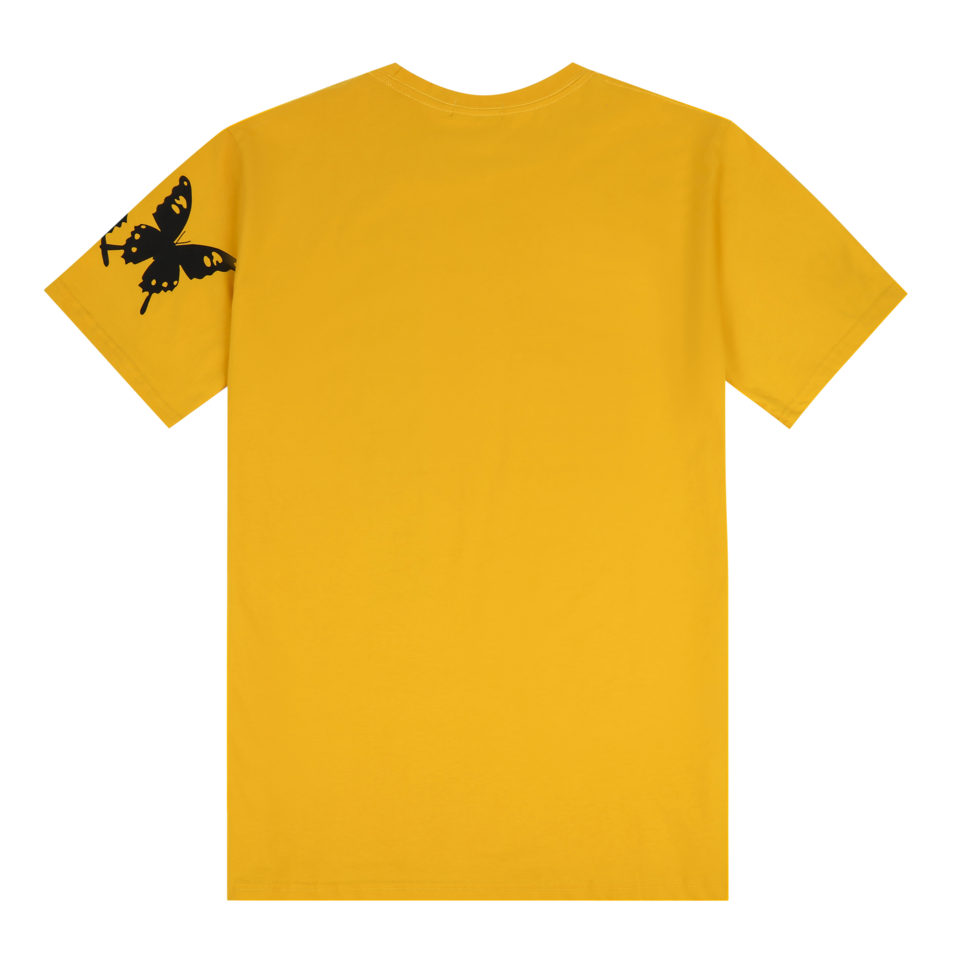 Beauty Landed on Me - Oversized Tee- Yellow