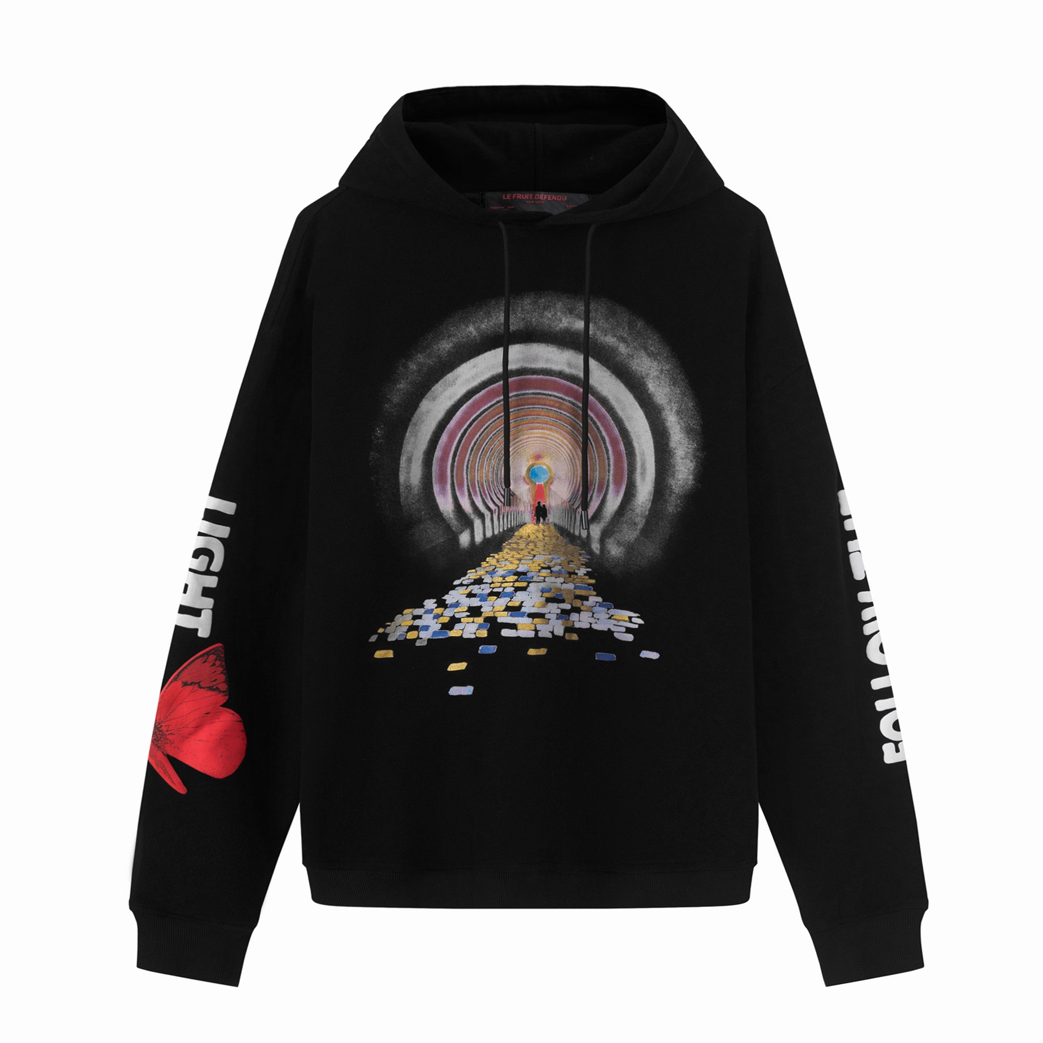 Load image into Gallery viewer, Le Fruit Defendu Brick Road Hoodie - Black