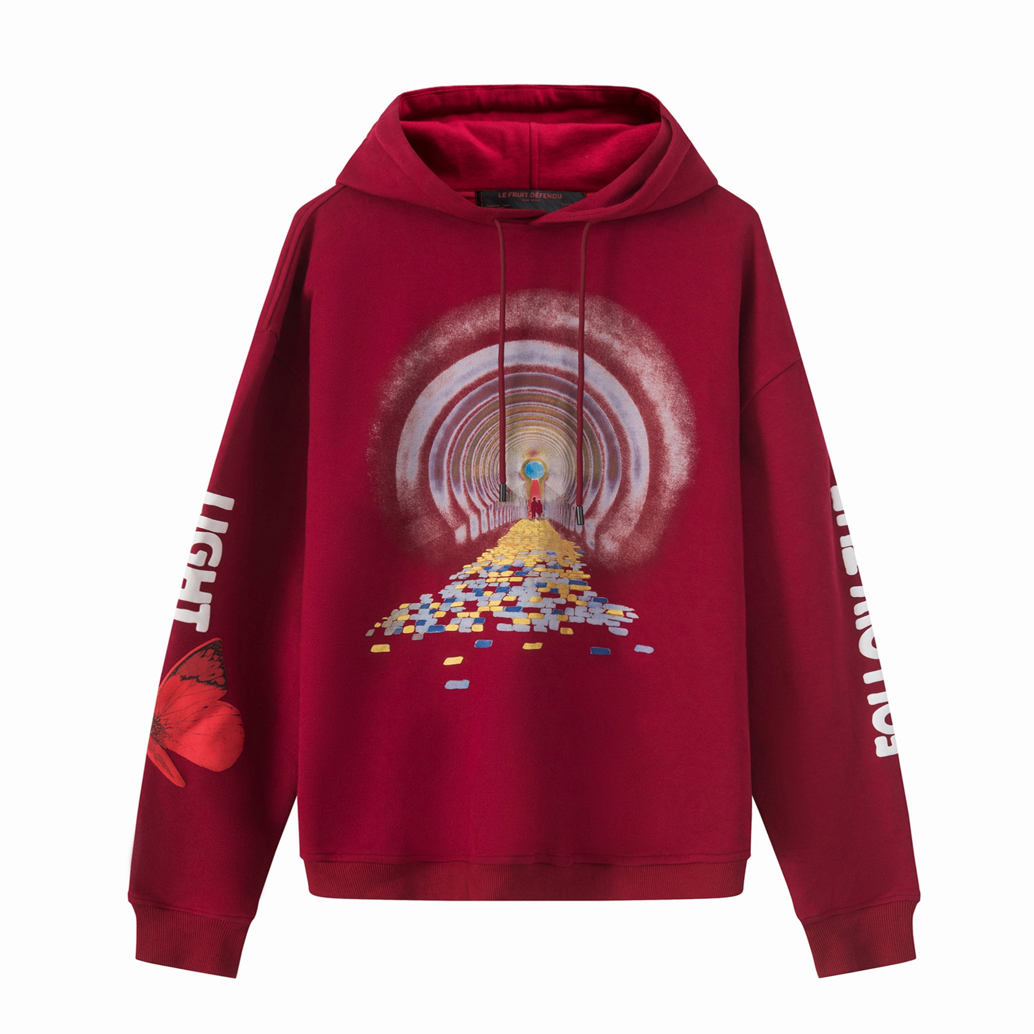 Load image into Gallery viewer, Le Fruit Defendu Brick Road Hoodie Red