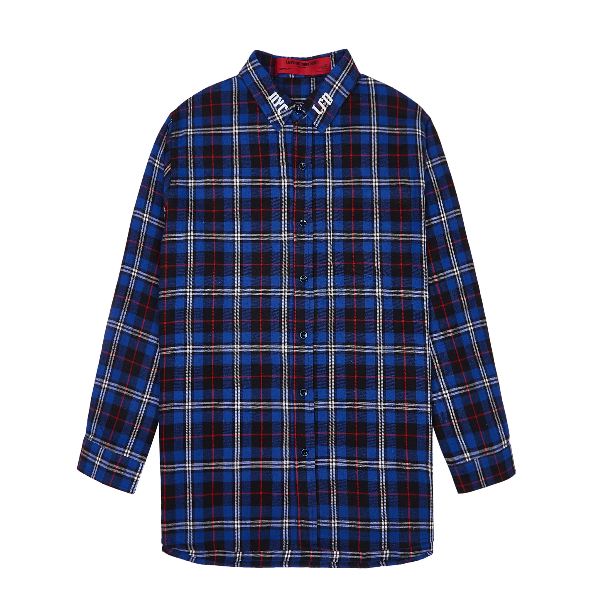 Load image into Gallery viewer, La Vie en Rose Check Shirt - Blue