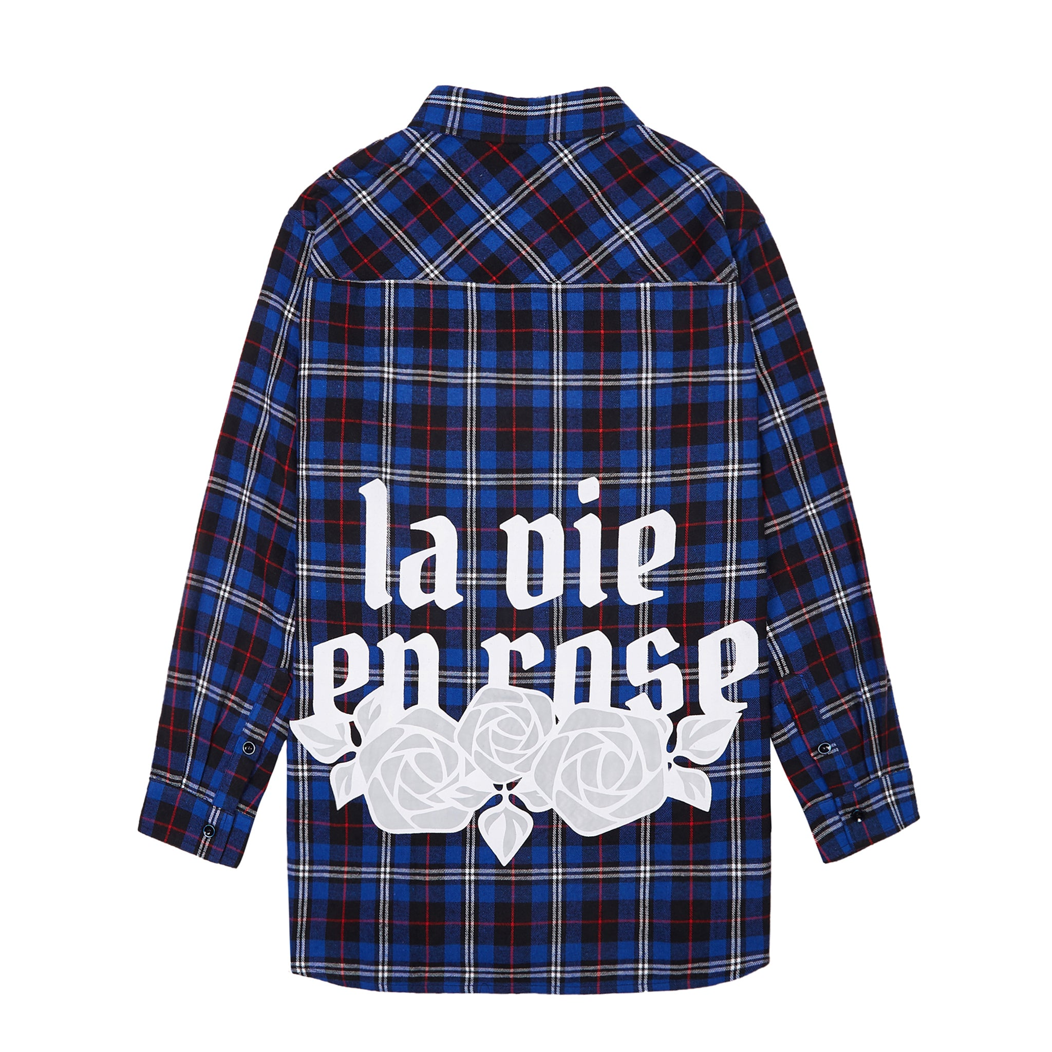 La Vie en Rose Check Shirt - Blue