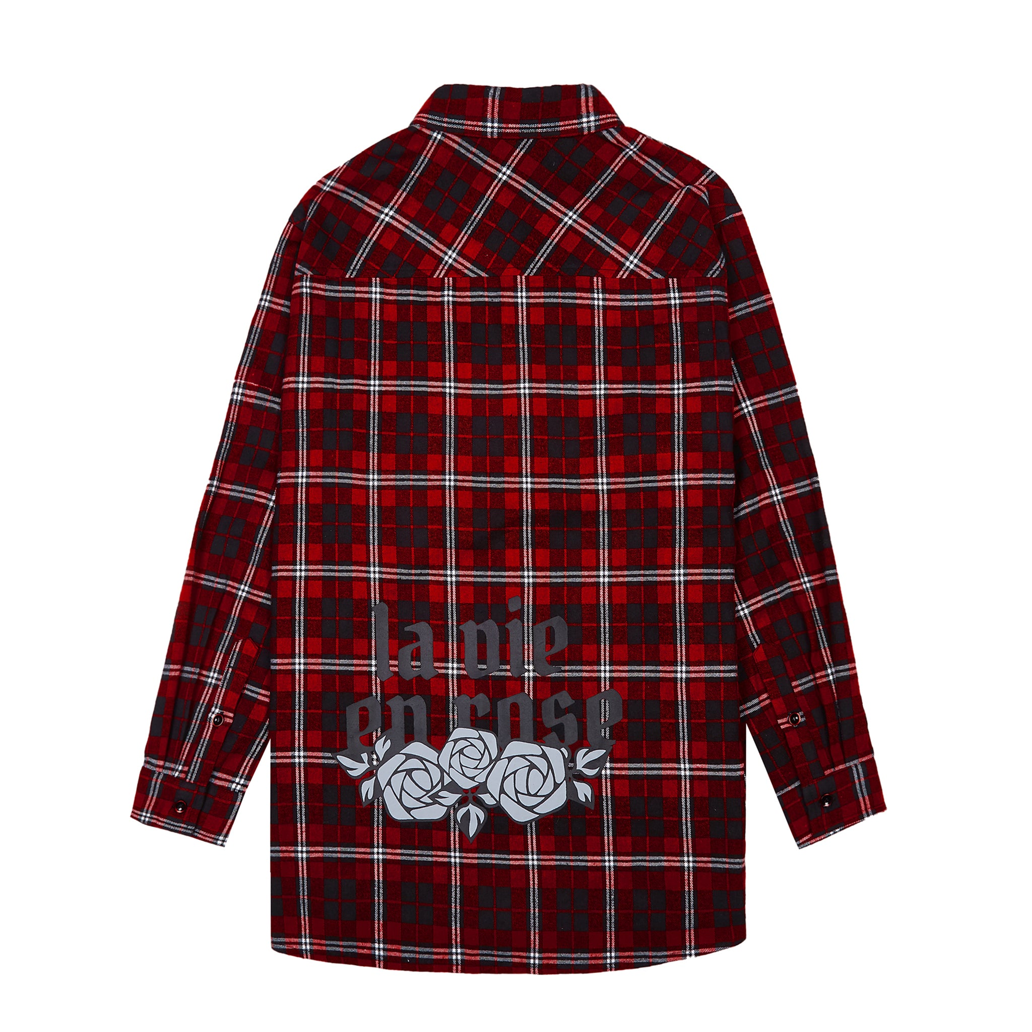 La Vie en Rose Check Shirt - Red