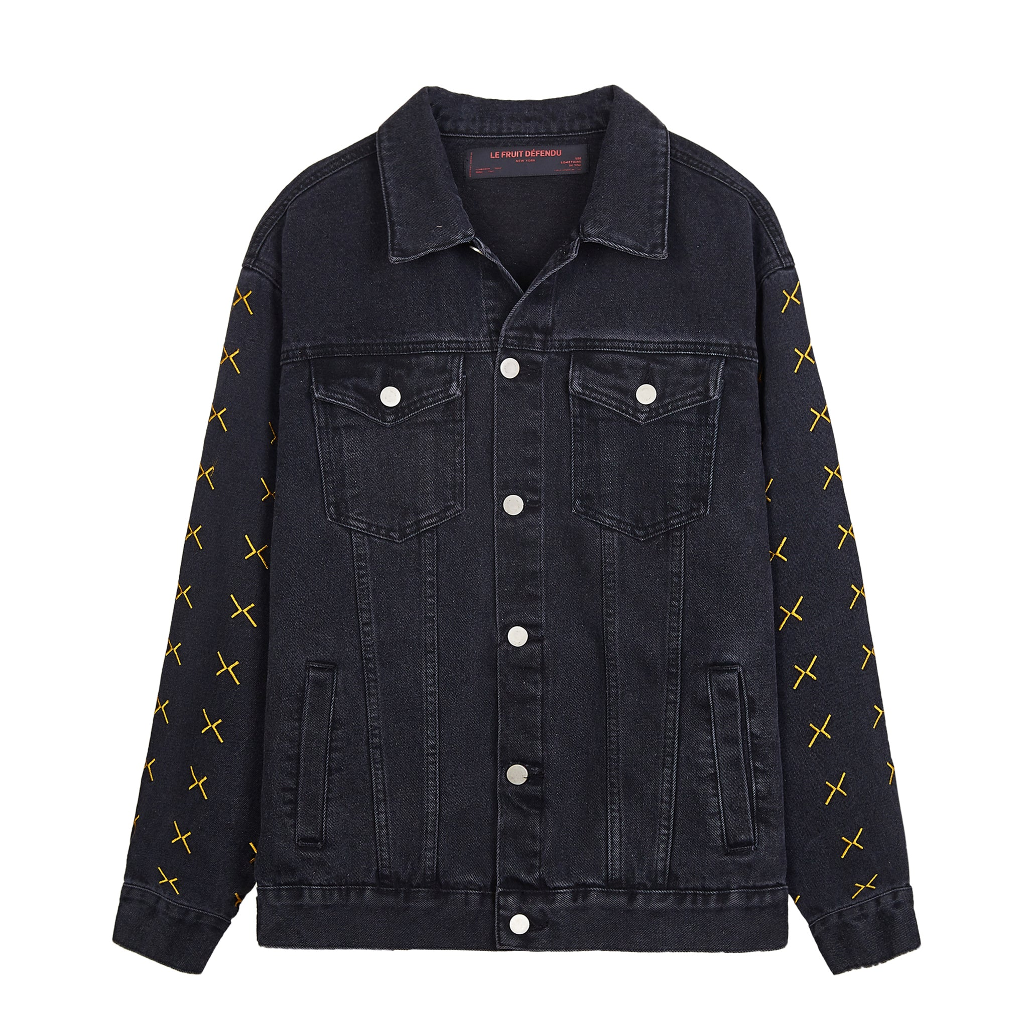 Load image into Gallery viewer, LFD Cross Denim Jacket