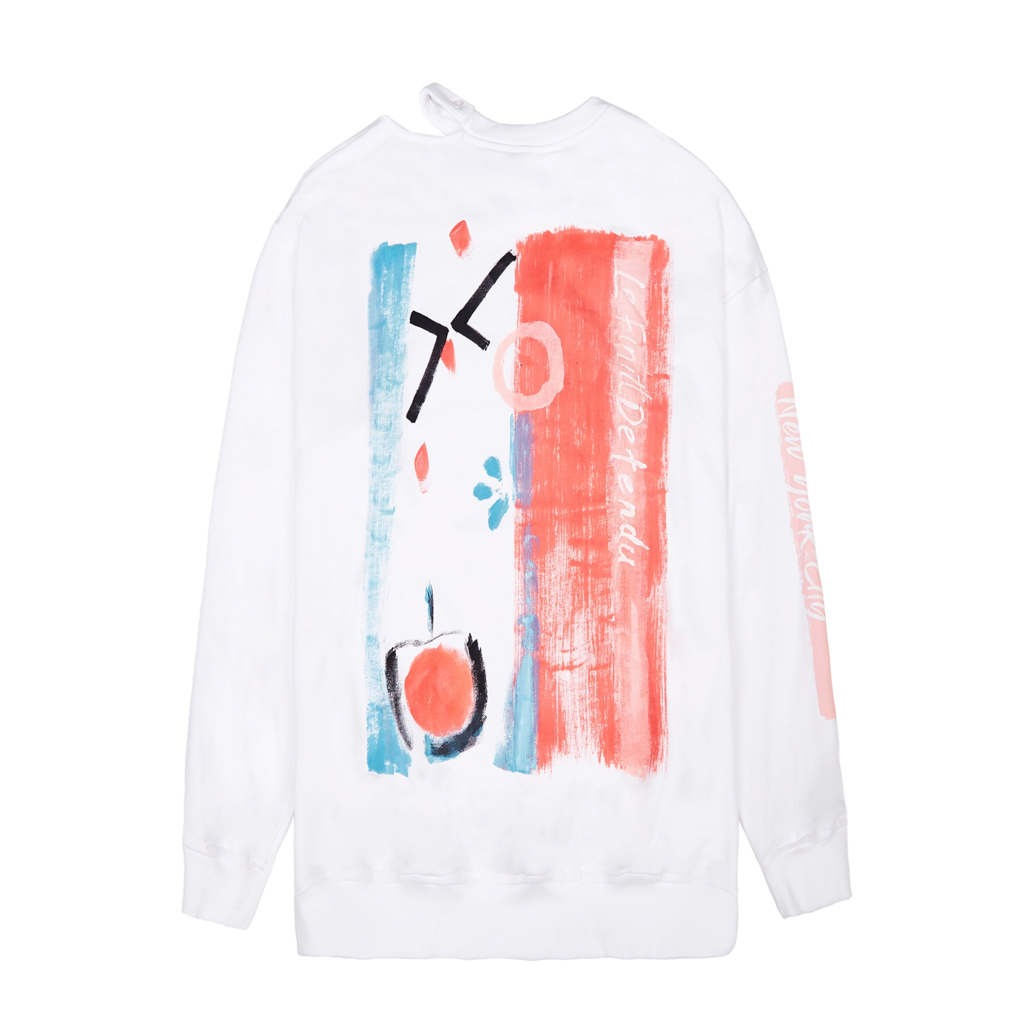 Load image into Gallery viewer, Le Fruit Defendu Betrayal Sweatshirt White