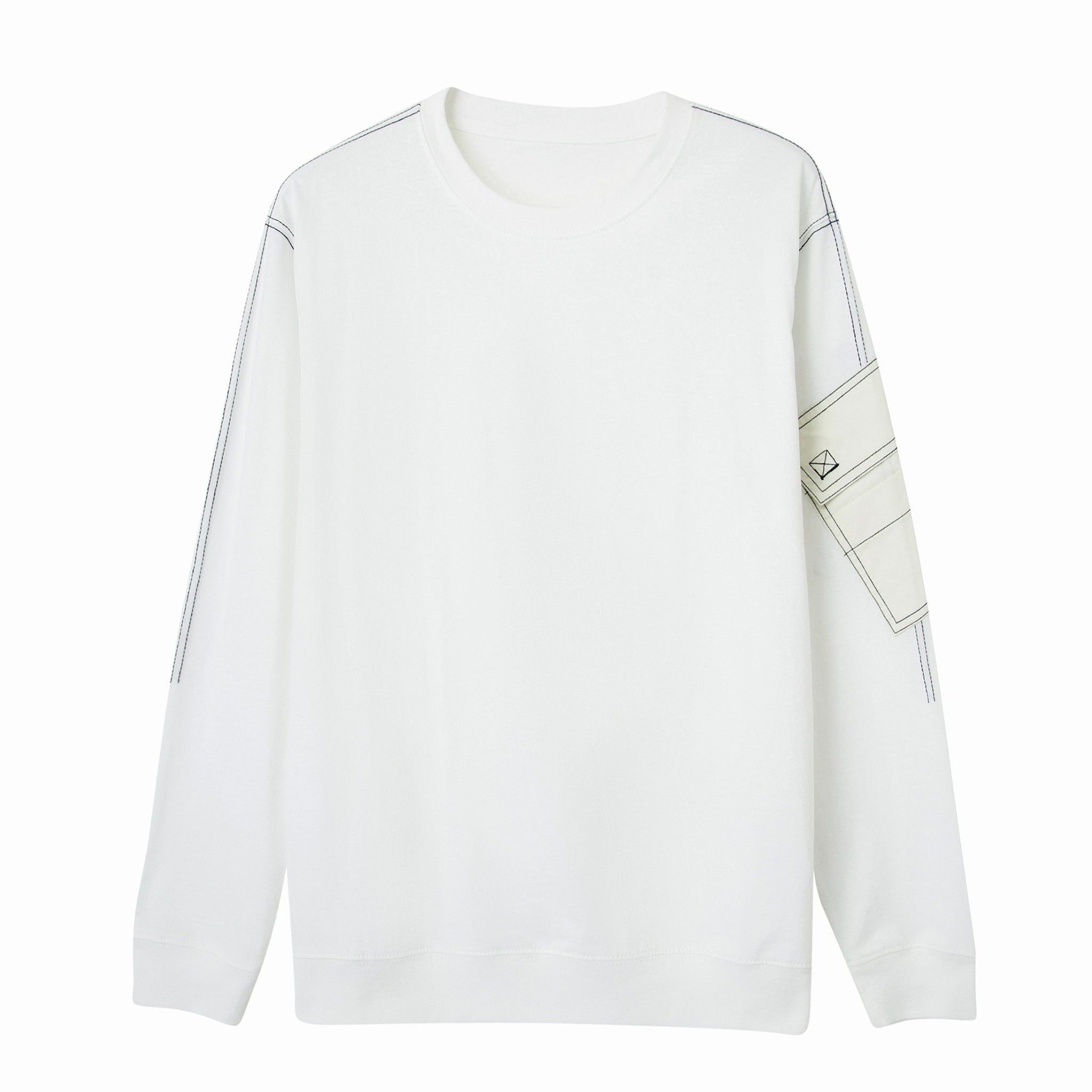Load image into Gallery viewer, Le Fruit Defendu Pocket Sweatshirt (White)