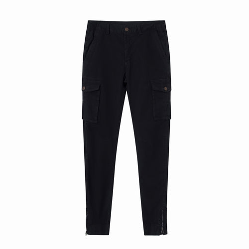 71 Vogue Best Stone Faded Charcoal Cotton slim fit cargo pants