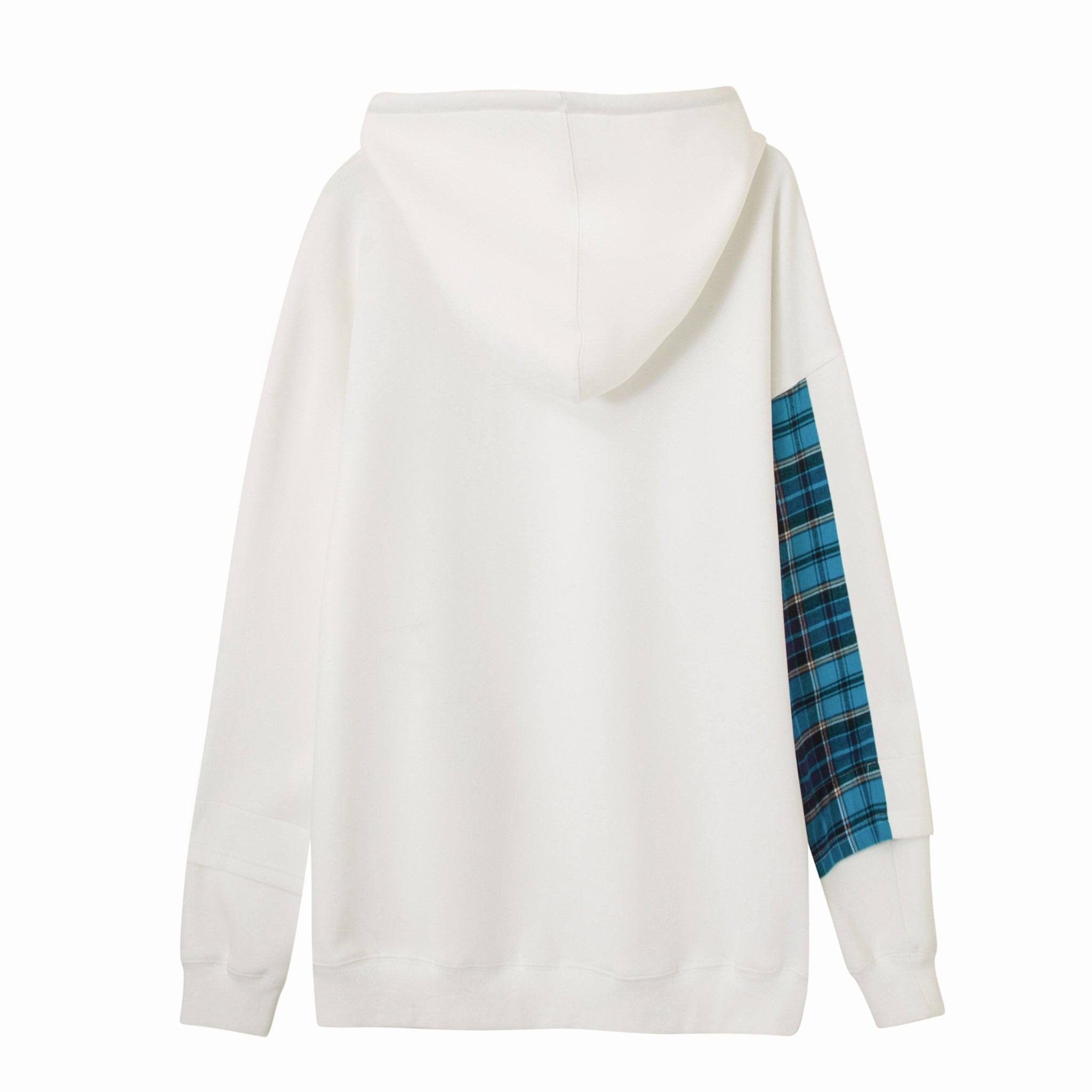 Load image into Gallery viewer, LFD Tartan Mix Hoodie - White