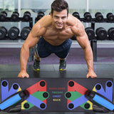 9 in 1 Push Up Rack Board Comprehensive Fitness Exercise Body Building Training Equipment